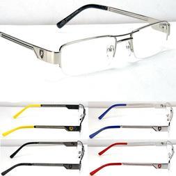fashion designer rectangular clear lens eye glasses