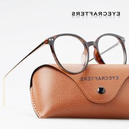 Fashion Men Women Eyeglasses Retro Metal Round glasses Clear
