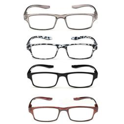 Fashion Unisex Frame Magnifying Reading Glasses Spring Hinge