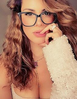 fearless women eyeglasses cat eye clear lens