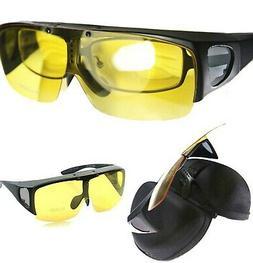 Agstum Fit Over Eyeglasses Polarized Night Driving Flip up S
