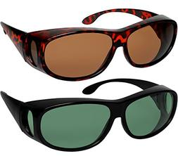 fit over sunglasses polarized lens wear over