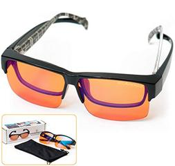 Fitover Anti-Blue Blocking Computer Glasses | Fits Over Pres