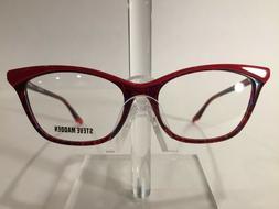 Steve Madden Flappper Women's Plastic Eyeglass Frame Red Mul