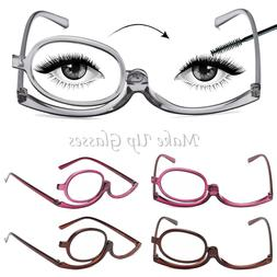 Folding Women Makeup Magnifying Reading Flip Make-up Eye Gla