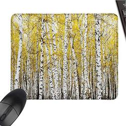 ForestE-Sports Gaming Mouse PadAutumn Birch Forest Golden Ye