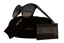Tom Ford FT0568 Geraldine-02 Sunglasses Havana w/Blue Gradie
