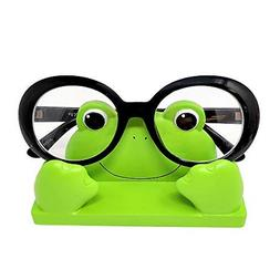 JewelryNanny Fun Frog Eyeglass Holder Stand for Kids Women -