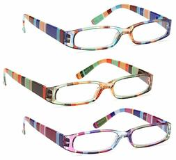 Gamma Ray 3 Pairs Ladies Slim Fashion Readers Colorful Readi