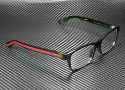 NEW GUCCI GG 0006OA eyeglasses Frame 002 Black Green Red 55m