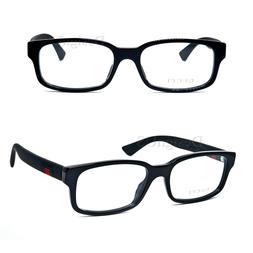 GUCCI GG 0012O 001 Shiny Black 54/18/145 Eyeglasses Rx Made