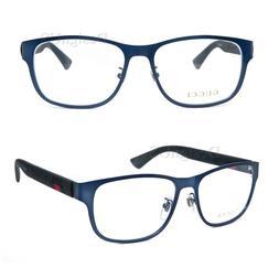 GUCCI GG 0013O 003 Matte Dark Blue Black 55/16/145 Eyeglasse