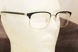 GUCCI GG 0130O eyeglasses Frame 001 Black Gold 53mm UNISEX J