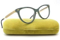 GUCCI GG 3818 Eyeglasses R4O Green Marble Gold Black Authent