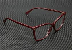 Gucci GG0025O 007 ROUND OVAL BURGUNDY DEMO LENS 56 mm Women'