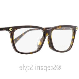 Gucci GG0042OA 002 Asian Fit Havana Plastic Cat-Eye Eyeglass