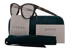Gucci GG0310O Eyeglasses 53-16-140 Havana w/Demo Clear Lens