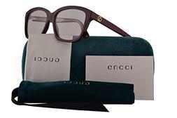 Gucci GG0311O Eyeglasses 55-15-140 Burgundy w/Demo Clear Len