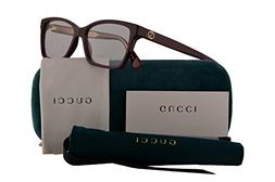Gucci GG0312O Eyeglasses 52-14-140 Burgundy w/Demo Clear Len