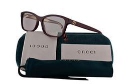 Gucci GG0316O Eyeglasses 54-15-140 Burgundy w/Demo Clear Len