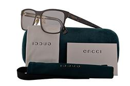 Gucci GG0317O Eyeglasses 56-17-145 Brown Havana w/Demo Clear