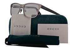 Gucci GG0317O Eyeglasses 56-17-145 Ruthenium Black w/Demo Cl
