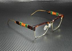 Gucci GG0605O 005 Eyeglasses Men's Havana/Gold/Green Full Ri