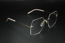 GUCCI GG0683O 004 Gold Square Women's Eyeglasses Frame 55 mm