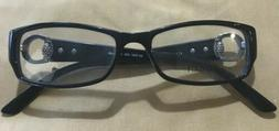 Gucci GG3553 Shiny Black Frame w/Crystal D28 140 Rectangle E
