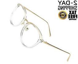 TIJN Gold Fade Block Glasses|Round Optical Eyewear Non-presc