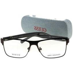 Guess GU1912-009-55 Square Men's Black Frame Clear Lens Ge