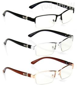 Half Rim Men Women OG Eyewear Clear Lens Frame Eye Glasses D