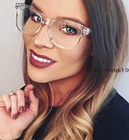 Hot CRYSTAL Transparent Translucent Clear Frames Fashion Big