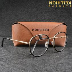 Hot Womens Men Large Oversized Metal Frame Clear Lens Round