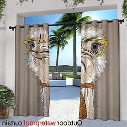 BlountDecor Indie Outdoor Blackout Curtains W72 x L108 Sketc