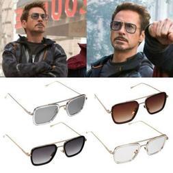 Iron Man Men Retro Sunglasses Tony Stark Vintage Eye Glasses