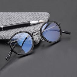 Japan Brand Design Titanium Round Circle Glasses <font><b>Fr