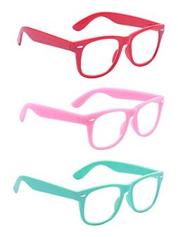 Outray Kids Children Nerd Retro Clear Lens Eye Glasses Age 3