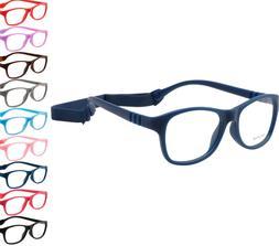 Kids Glasses Frame Eyewear Strap Bendable Boys Girls Eyeglas