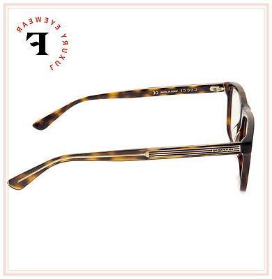 GUCCI 0384 Havana Square Men Eyeglasses GG0384O Optical