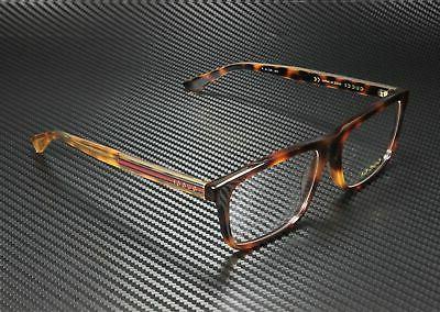 0384 havana gold square men eyeglasses 57mm