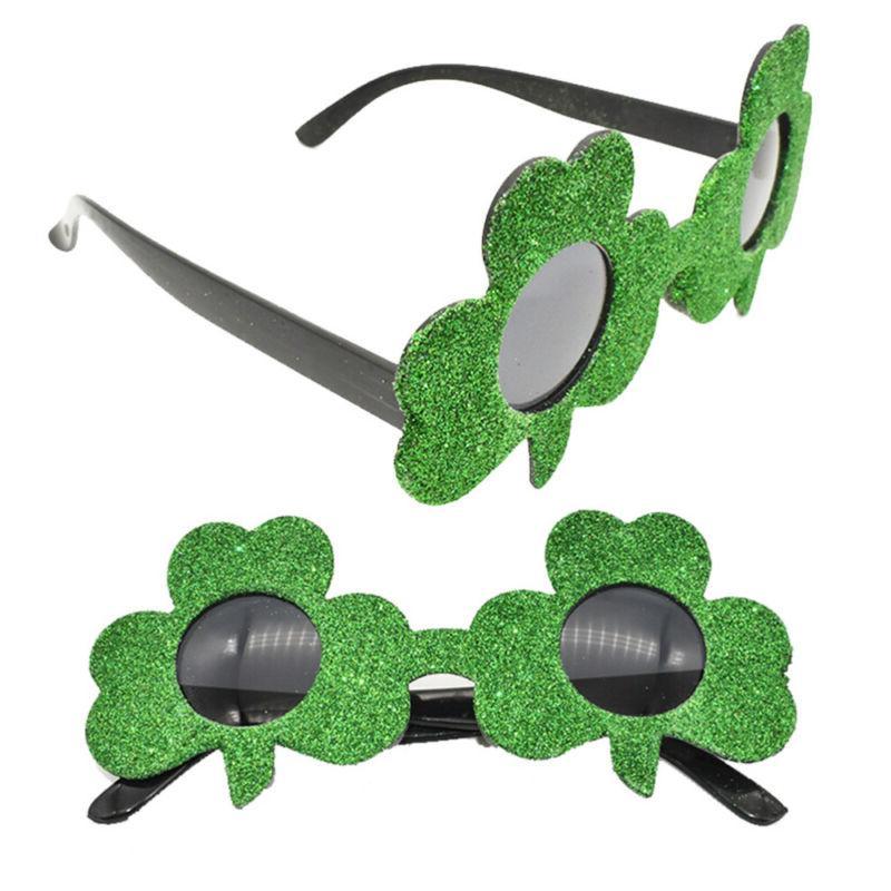 1PC Glitter Green Glasses Birthday Party