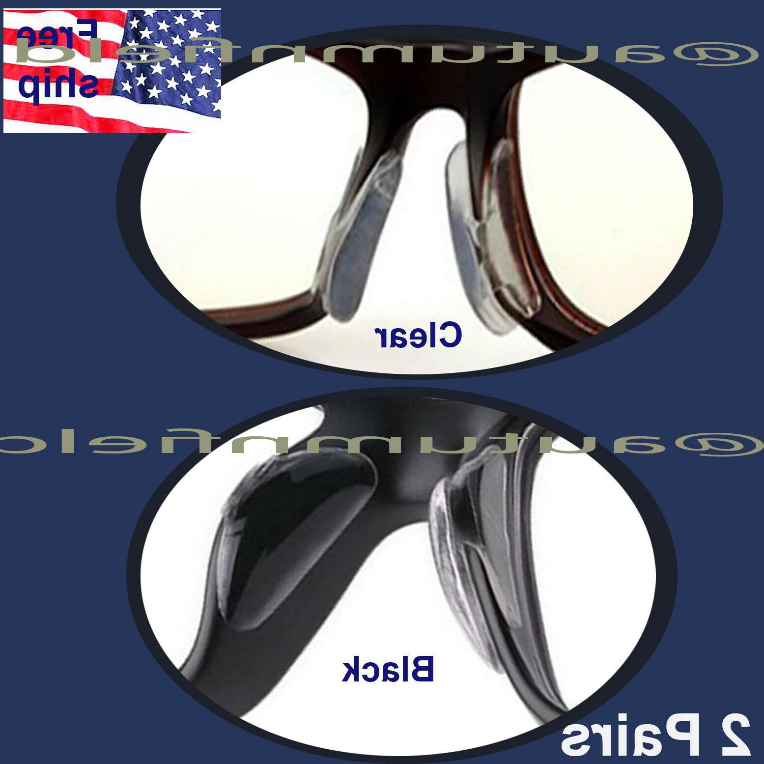 2 pairs anti slip silicone stick on