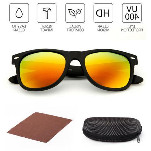 2Pairs Sunglasses UV400 Mirrored Lens Glasses