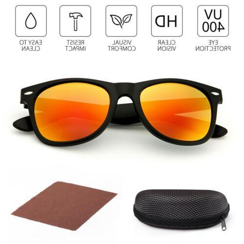 2Pairs Wayfare Sunglasses Protection Mirrored Lens Eye Glasses