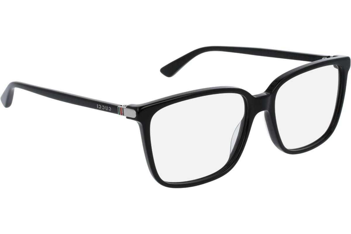 $500 Authentic GUCCI Mens Glossy Black Square Eye Glasses Fr