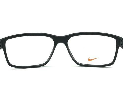 NIKE 7092 Men's Matte Black Eyeglasses 140 New