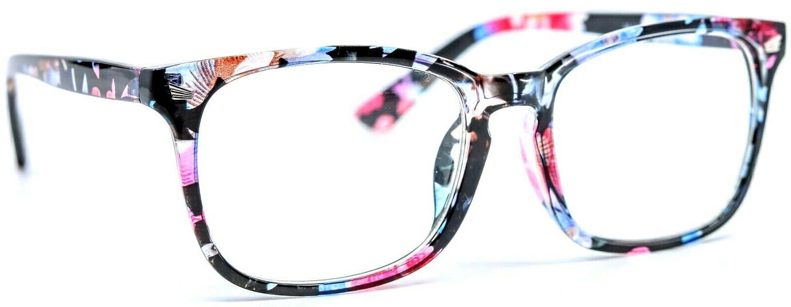 8082 c155 black flowers square women eyewear