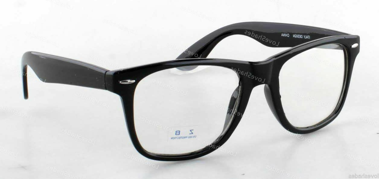 Clear Lens Black Frame Cat Eye Glasses Designer Fashion Nerd