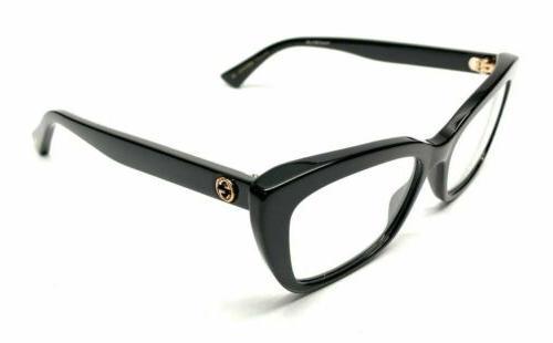 Gucci GG0165O 001 Black Plastic Cat-Eye Eyeglasses 51mm